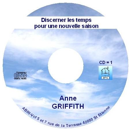 Discerner les temps - Anne Griffith